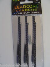 "ESP CARP LEADCORE LEADERS LEAD CLIP RIGS - 1m (39"") - AVAILABLE IN 4 COLOURS"