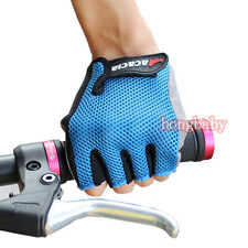 Cycling Bike Bicycle Ultra-breathable Wearable Half Finger Glove Blue size M-XL