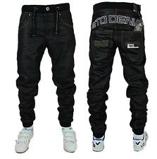NEW MENS ETO EM125 BLACK-COATED JOGGER JEANS **FREE P&P** *BARGAIN PRICE*