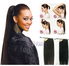 100g human hair ponytail ,clip in 100% human hair extension easy clips