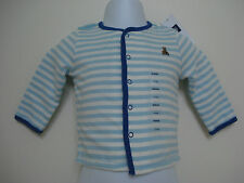 BABY GAP BOYS STRIPED LONG SLEEVE Blue and White SHIRT NWT