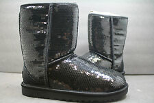 Womens UGG Boot Original Classic Short SPARKLES!!  BLACK !! 100% AUTHENTIC!