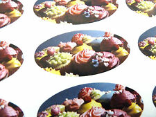 Cupcake Oval Seal Labels, Cake Stickers for Gift Wrap, Envelopes, Bags, Cards