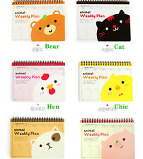 1 Animal Handy Weekly Planner Scheduler Notebook 1 Selection