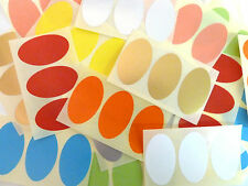 50x30mm Oval Removable Low Tack Colour Code Stickers Coloured Sticky Labels
