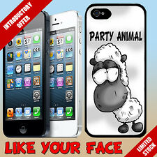 New Funny farm animal cartoon Drunk Sheep & saying phone case cover for Iphone 5