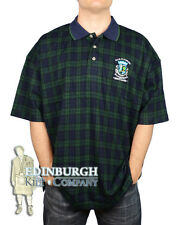 OLD COURSE, SCOTLAND..BLACK WATCH TARTAN POLO SHIRT..SIZE XS TO 2XL..GREAT GIFT!