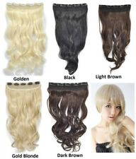 Curly Wavy Clip on Hair Extension Hairpiece 22 x 40 cm Extra Volume & Lift UK