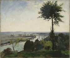 Tree River Iii Seine At Bois Le Roi Carl Fredrik Hill 1877 Vintage Art Poster/