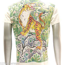 w8 M L XL Japanese Irezumi Tattoo VNECK T-shirt Tiger Geisha Hannya Mask Demon