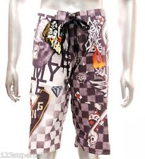 "z1 Minute Mirth Shorts Sz 32"" 34"" 36"" 38"" Boardshorts Tattoo Trunks Graffiti"