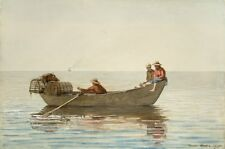 Three Boys In Dory With Lobster Pots Winslow Homer 1875 Vintage Art Poster/Pho