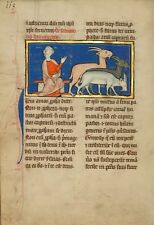 Amos & Three Goats fourthquarter of 13th Century- 1277 Art Photo/Poster Repro