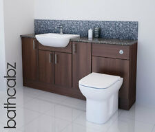 AMERICAN WALNUT BATHROOM FITTED FURNITURE 1700MM