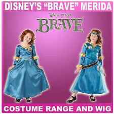 Disney Brave Princess Merida Fancy Dress Costume 3-8yrs Optional Wig Accessory