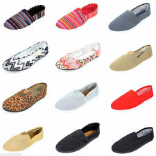 Womens Ballet Flats Slip On Shoes Casual Slippers Ballerina Sparkle Canvas New