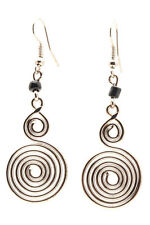 Maisha Beautiful Silver Color Glass Bead  Earrings Handmade FairTrade Africa
