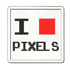Pixels Love Drinks Coaster Tea Coffee - Rigid or Flexible Video Game