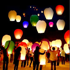 10pcs Chinese Wish Lanterns Paper Sky Fire Flying Wedding Party Lamp Multi Color