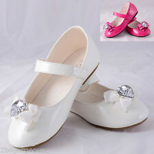 Mary Janes Shoes Size UK 9 -12 EU 26.5-30 Flower Girl Bridesmaid Party GS010