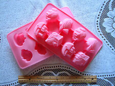 Silicone Jelly pudding cake chocolate muffin Soap mold mould boat  train car