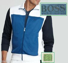 NWT Hugo Boss Green Label by Hugo Boss Track Jacket in White-Navy-Blue