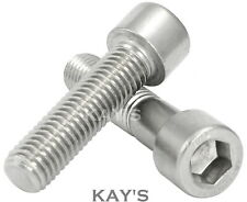 M10 (10mmØ) CAP SCREWS A2 STAINLESS STEEL HEX SOCKET ALLEN KEY BOLTS DIN 912