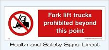 FORK LIFT TRUCKS SIGNS & STICKERS ALL MATERIALS! 300x100 FREE P+P (PM6)