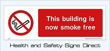 BUILDING IS SMOKE FREE SIGNS & STICKERS ALL MATERIALS 300x100 FREE P+P (PS34)