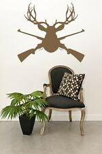 Wall Decal Animal Deer Buck Nature Wildlife Hunting Rifle Woodland Sport