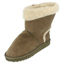 Girls Unbranded Tan fur boots H4010