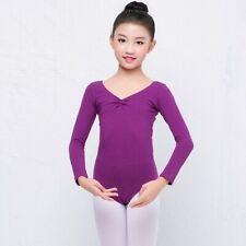 Cotton Long Sleeved Girl's Dancewear Ballet Leotard Unitard 6 Sizes 5 Colors