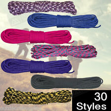 USA Made Nylon Braided Paracord 50' Hank - Heat Seal Polybag With Insert Paper