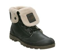 Men's Palladium Boots Warm Fur Lined Baggy Black Pilot Leather