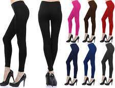 Full Length Color Leggings Footless Long Spandex Fitted Stretch Seamless