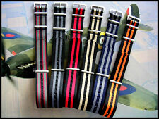 18-20-22-24 NATO G10 watchstrap bonded Balistic nylon RAF MoD Military IW SUISSE