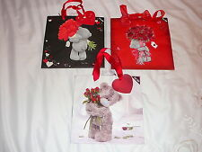 GIFT BAG CHOICE 3 DESIGNS ME TO YOU TATTY TEDDY 3D PRESENT BIRTHDAY VALENTINE