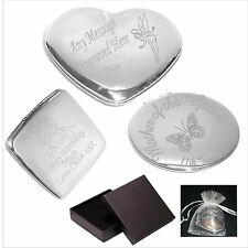 Engraved Handbag Compact Mirror Teacher Retiring Gift  Personalised