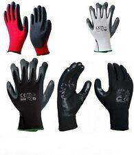24 PAIRS OF NEW NITRILE COATED WORK GLOVES CONSTRUCTION GARDARDENING