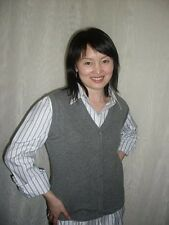 NWT, 100% CASHMERE CARDIGAN VEST: GRAY, CAMEL, RED (scroll for details)