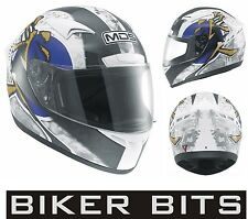 MDS (AGV) M13 RONIN White/Blue Motorcycle/Scooter Helmet XS-S-M-L-XL cheap £59
