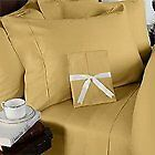Extra USA,Canada Size Fitted Sheet 1PC Gold Solid 100% Cotton,Choose Deep 1000TC