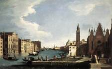 Photo Print The Grand Canal with the Church of La Carit Canal, Bernardo - in