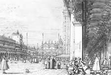 Photo Print Piazza San Marco: Looking East from the South West Corner Canaletto
