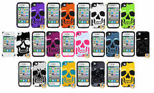 Apple iPhone 4 4S Hard Hybrid Metal Skull Cell Phone Case Silicone Cover Fusion