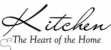 Kitchen Heart of Home Decor Cute vinyl wall decal quote sticker Inspirational