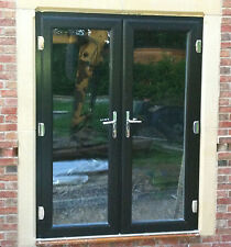 uPVC French Doors - 1100mm-1200mm - White, Brown, Oak, Grey, Black, Cream