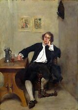 Photo/Poster - A Man Black Smoking A Pipe - Meissonier Jean Louis Ernest 1815 18