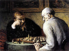 Art Photo Print - Chess Players - Honore Daumier 1847 1856