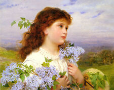 Art Print - The Time Of The Lilacs - Sophie Gengembre Anderson 1823 1903